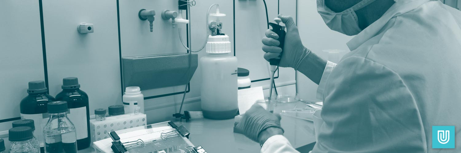 Why choose natural rubber latex gloves? In use in a laboratory setting.